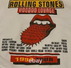 Vintage Rolling Stones Voodoo Lounge 1994 Tour T Shirt XL Used