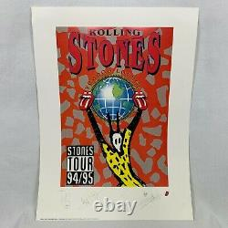 Vintage Rolling Stones Voodoo Lounge 90s Signed And Numbered Lithographic Poster