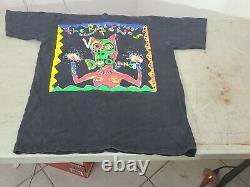Vintage Rolling Stones Voodoo Lounge Shirt Brockum Single Stitch Black L