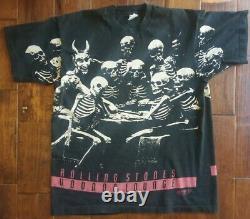 Vintage Rolling Stones Voodoo Lounge Skeleton All Over Shirt XL