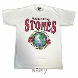 Vintage Rolling Stones Voodoo Lounge T-Shirt 1994 1995 Made in England Sz L
