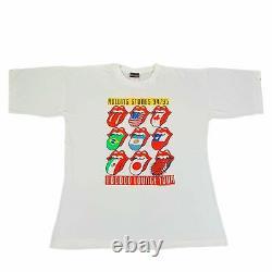 Vintage Rolling Stones Voodoo Lounge T-Shirt Sz L Tour Metallica Nirvana Rock