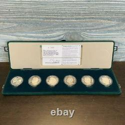 Vintage Rolling Stones commemorative 1990 silver coin 6 pieces Serial number