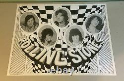 Vintage Rolling Stones poster frank kay music memorabilia Neumann 1970 original