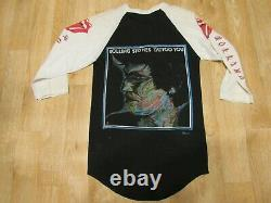 Vintage Rolling stones shirt Tatoo You 1980s 80s raglan