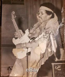 Vintage SIGNED Only Copy Jimi Hendrix Photo Memphis April 18, 1969 Jim Shearin