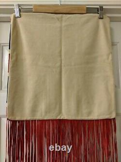 Vintage Spell & the Gypsy Collective Rolling Stones Suede Fringe Pillow Cover