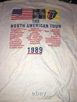 Vintage SteelWheelsRolling Stones 89 North American TourConcert TShirt XL