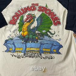 Vintage The Rolling Stones 1981 Tour Graphic Raglan T shirt MEDIUM 50/50 USA