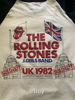 Vintage The Rolling Stones Europe Tour 1982 Band T-Shirt Size S J. Geils Band