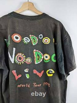 Vintage The Rolling Stones Merch T-shirt 1995 Voodoo Lounge Tour Faded