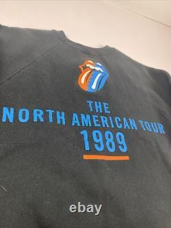 Vintage The Rolling Stones North American Tour 1989 Sweatshirt Small USA Made