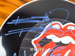 Vintage The Rolling Stones Signed Graphic Drum Head 2 Letters Of COA Rock Music