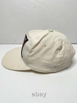 Vintage The Rolling Stones Snapback Hat Steel Wheels Tour 1989 White RARE