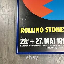 Vintage VTG Rolling Stones Urban Jungle Europe Tour 1990 Framed Poster