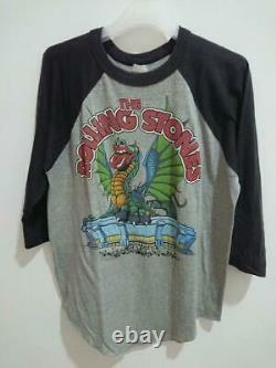 Vintage rolling stones band 1981 t shirt 3q size L