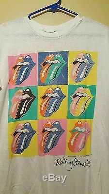 Vintage rolling stones shirt the north American tour 1989 size Large rare