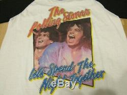 Vintage the rolling stones tour shirt raglan lets spend the night together 1980s