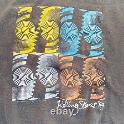 Vtg 1989 North American Tour Rolling Stones Steel Wheels Sweatshirt XL Fits L