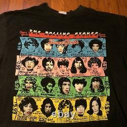 Vtg 1989 The Rolling Stones Steel Wheels Concert Tour T Shirt Some Girls USA XL