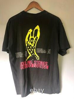 Vtg 1994 The Rolling Stones Spike Tongue Super Rare Print Size XL Brockum Tag