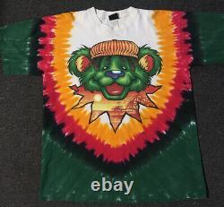 Vtg 1999 Grateful Dead Rasta Bear Shirt XL USA Pink Floyd Concert Tour Rock 90s