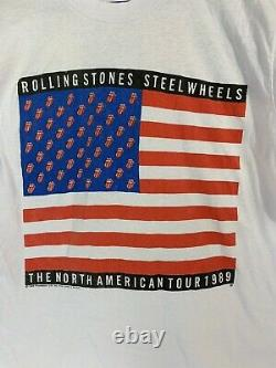 Vtg'89 The Rolling Stones Steel Wheels Tour Screen Stars READ Fits Medium-Lg