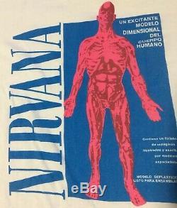 Vtg 90s Nirvana Sliver Shirt L Sonic Youth Pearl Jam Flaming Lips Kurt Cobain
