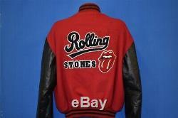 Vtg 90s ROLLING STONES BRIDGES TO BABYLON LETTERMAN TOUR TONGUE JACKET 97/98 XL