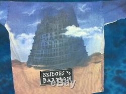 Vtg 90s THE ROLLING STONES BRIDGES TO BABYLON CONCERT ALL-OVER PRINT T-Shirt XL