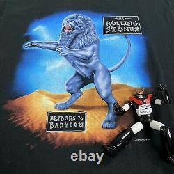 Vtg Mens 1997 Rolling Stones Bridges to Babylon Tour T-shirt XL single anvil