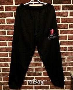 Vtg THE ROLLING STONES Tour BRIDGES TO BABYLON Sweat Shirt Pants Suit (L) OG NOS