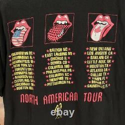 Vtg usa made Rolling Stones t-shirt LARGE single stitch 90s voodoo lounge 94/95