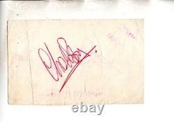 1963 Rolling Stones Hand Signé Autographs On Vintage Album Page