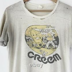 1972 Creem Magazine Vintage Promo Tee Chemise Led Zeppelin Rolling Stones Dylan