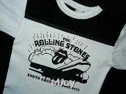 1972 Vtg Rolling Stones North American Tour Tshirt 70s Rock Concert Souvenir S
