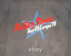 1976 Rolling Stones De Sweat Tour De Concert De Rock (s) 70 Rare Veste Chemise