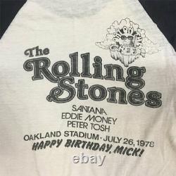 1978 Rolling Stones Oakland Day On The Green Tour Shirt Vtg Winterland Santana M
