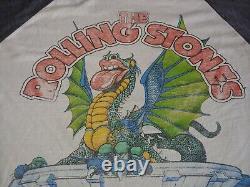 1981 Rolling Stones Cotton Bowl Shirt Tournée De T-shirt Raglan Texas Jersey