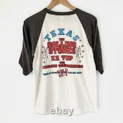 1981 Rolling Stones Dallas Texas Avec Zz Top Vintage Tour Band Rock Shirt 80s 1980