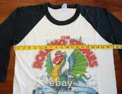 1981 Rolling Stones Iggy Pop Santana Shirt T-shirt Vintage Jersey Raglan Carlos