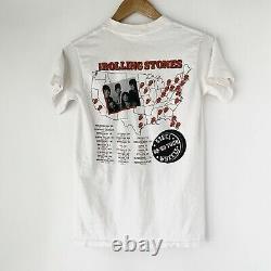 1989 Rolling Stones Steel Wheels Vintage Tour Rock Band Des Années 80 T-shirt Des Années 1980