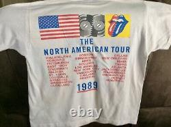 1989 Vintage Rolling Stones Steel Wheels Concert Tour T Shirt