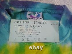 2 Vintage 1994 The Rolling Stones Voodoo Lounge Tour T-shirt Taille XL