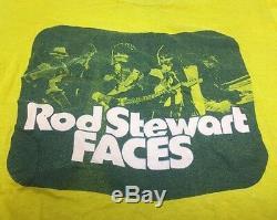 70 Vtg Les Faces De T-shirt Rod Stewart Tour Concert Rolling Stones L'oms Large