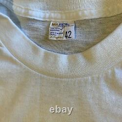 70s Vintage L'étone Rolling T-shirt Hommes Sz S Soft Thin Distressed 1970s