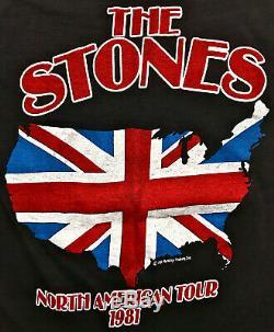 80 Vintage 1981 The Rolling Stones Amérique Du Nord Rocher Concert Tour T-shirt M L