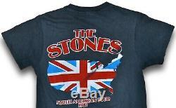 80 Vintage 1981 The Rolling Stones Tournée Nord-américaine Du Concert Rock T-shirt S