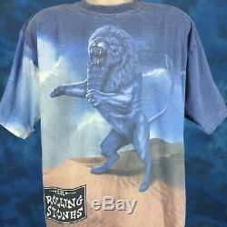 90 Vtg Les Rolling Stones Ponts De Babylone Concert All-over T-shirt XL