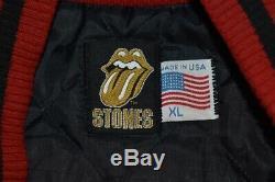 90 Vtg Rolling Stones Ponts De Babylone Letterman Tour XL 97/98 Maternelle Veste
